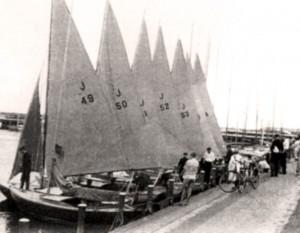 Juniorflotte am Steg (Bild aus den 50er Jahren)