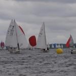 Juniorboote können auch Vorwind mithalten.